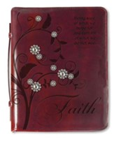 Tree Of Faith, Bible Cover, Burgundy, Large