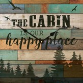 The Cabin Is Our Happy Place Clock
