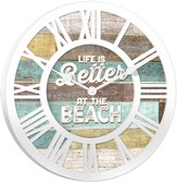 Life Is Better At the Beach Clock