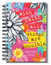 With Faith All Things Are Possible, Floral Journal