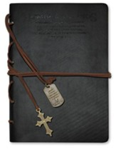 Hombre de Dios, Diario con Dijes, Negro  (Man of God, Journal with Charms, Black) - Slightly Imperfect