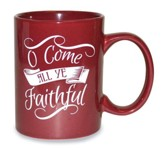 O Come All Ye Faithful Mug, Red