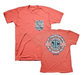 JC Monogram Shirt, Coral, 4X