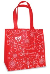 Joy To the World Eco Tote Bag, Red