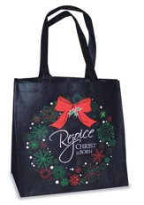Rejoice Christ Is Born Tote Bag, Black