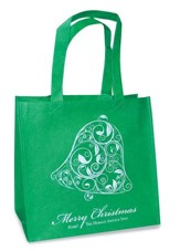 Merry Christmas, Bell Eco Tote Bag, Green