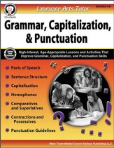 Language Arts Tutor: Grammar, Capitalization &  Punctuation, Grades 4-8