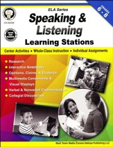 Speaking & Listening Learning Stations, Grades 6-8