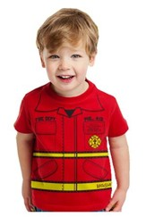 Fire Department Shirt, Red, Youth Large