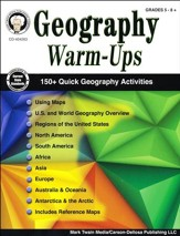 Geography Warm-Ups, Grades 5-8+