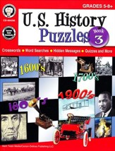 U.S. History Puzzles, Book 3--Grades 5 to 8