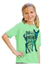 I'm Fawned Of Jesus Because I'm Deer To Him Shirt, Green, Youth Medium