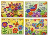 Thinking of You, Watercolor Garden Cards, Box of 12