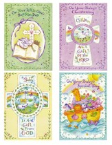 Baby Baptism, Cross and Vines Cards, KVJ, Box of 12