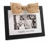 Happily Ever After, Photo Frame, with Gold Bow