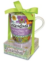 Grandma You Brighten Up My World Mug and Notepad