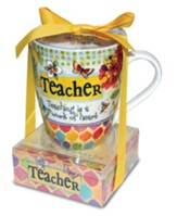 Teacher, Teaching Is a Work Of Heart Mug and Notepad