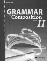 Abeka Grammar and Composition II Quizzes & Tests