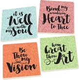 Hymns Coasters, Set of 4