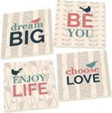 Inspirational Bird Coasters, Set of 4