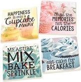 Cupcake Coasters, Set of 4