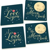 To the Moon and Back Coasters, Set of 4