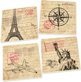Travel Inspired Coasters, Set of 4