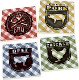 BBQ Coasters, Set of 4