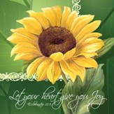 Let Your Heart Give You Joy, Sunflower, Napkins, Pack of 20