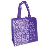 Toda Buena Dádiva y Todo Don Perfecto Desciende de lo Alto  (Every Good and Perfect Gift is From Above) Eco Tote, Purple