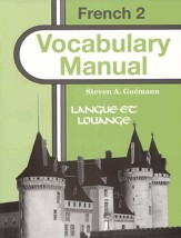 Abeka Langue et louange French Year  2 Vocabulary Manual