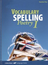 Abeka Vocabulary, Spelling, Poetry I Teacher Key (includes  Poetry Audio CD)