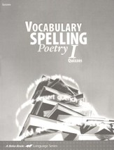 Vocabulary, Spelling, Poetry I Quizzes