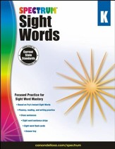Spectrum Sight Words Grade K (2014 Update)