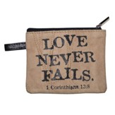 Love Never Fails Coin Purse
