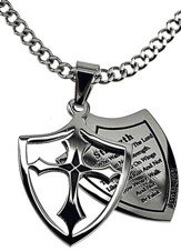 Strength Shield Cross Necklace
