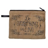 Do Everything in Love Cosmetic Bag