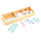 ShillerMath Complete Number Card Set with Wooden Tray