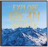 Explore Dream Discover, Glitter Wall Art