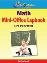 Math Mini-OfficeLapbook 3rd-5th  Grade - PDF Download [Download]