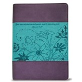God Saw All That He Had Made Journal, Purple and Teal