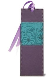 God Saw All That He Had Made Bookmark, Purple and Teal