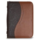 Call To Me and I Will Answer You Bible Cover, Chocolate and Brown, Large