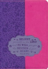 Delight Yourself in the Lord Journal, Purple and Pink