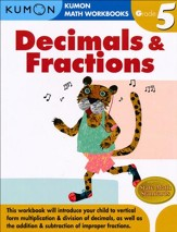 Kumon Grade Decimals & Fractions, Grade 5