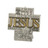 Names of Jesus Metal Tabletop Cross