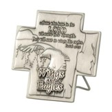Wings as Eagles Metal Tabletop Cross