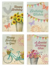 Happy Birthday, Farm Flower Market Cards, Box of 12