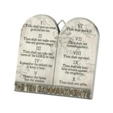 The Ten Commandments Tabletop Plaque