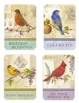 Happy Birthday, Song Birds Cards, Box of 12